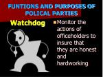 funtions and purposes of polical parties4