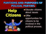 funtions and purposes of polical parties5