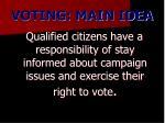 voting main idea