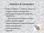 robotics computers