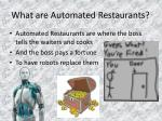 what are automated restaurants