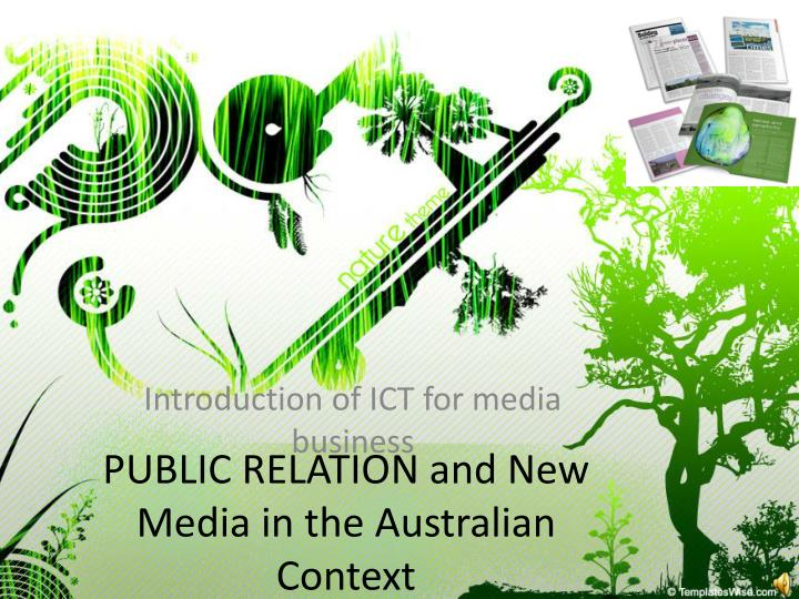 public relation and new media in the australian context n.