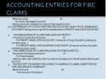 accounting entries for fire claims1