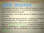 stock insurance