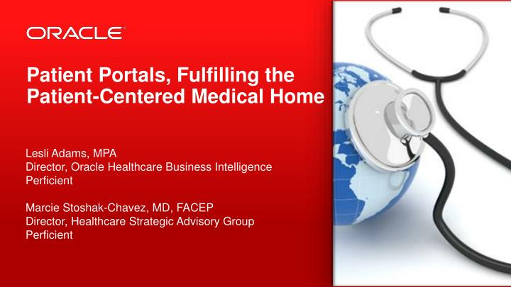 patient portals fulfilling the patient centered medical home n.