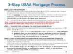 3 step usaa mortgage process