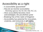 accessibility as a right