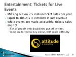 entertainment tickets for live events