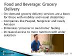 food and beverage grocery delivery