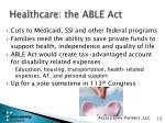 healthcare the able act