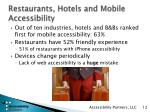 restaurants hotels and mobile accessibility