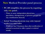 new medical provider panel process