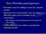 new provider panel process