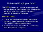 uninsured employers fund
