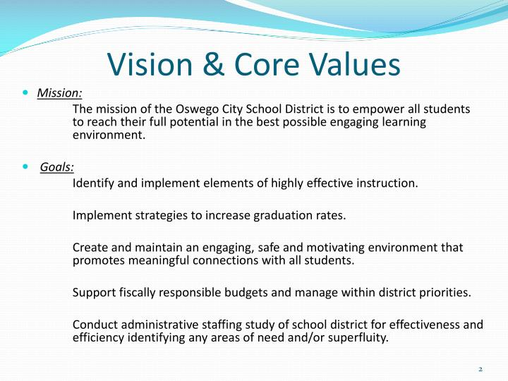 Vision core values
