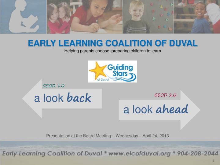 early learning coalition of duval helping parents choose preparing children to learn n.