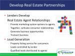 develop real estate partnerships
