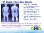 tsa checkpoints aviation security