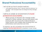 shared professional accountability