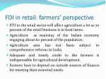fdi in retail farmers perspective