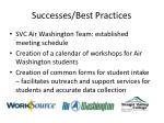 successes best practices