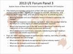 2013 i e forum panel 3 explore future of new hire technician training and faa part 147 evolution