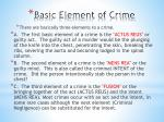 basic element of crime