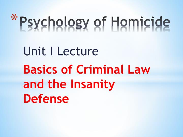 psychology of homicide n.