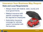 insurance your business may require