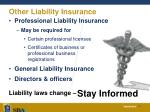 other liability insurance