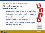 reasons for insurance