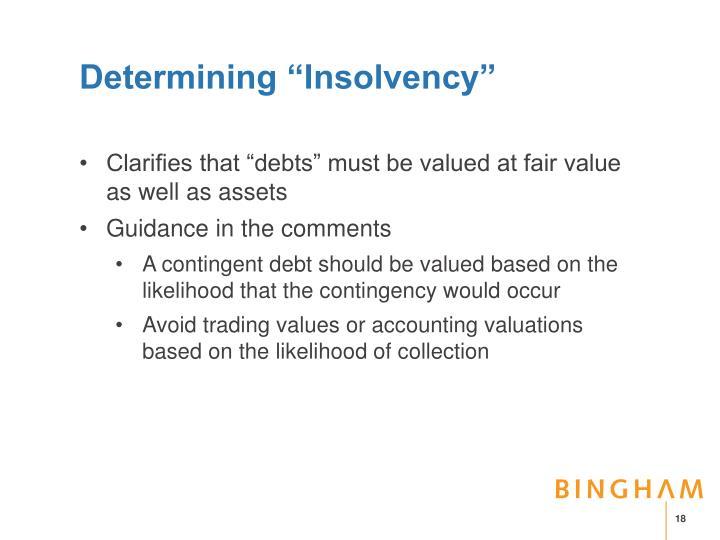 "Determining ""Insolvency"""