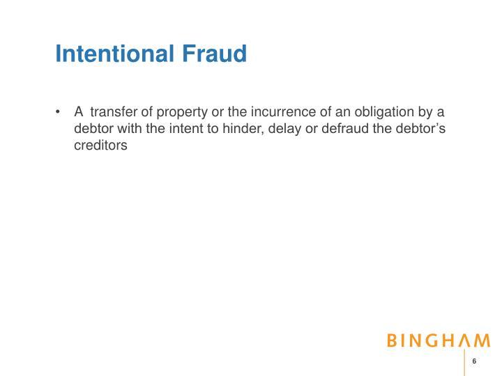 Intentional Fraud
