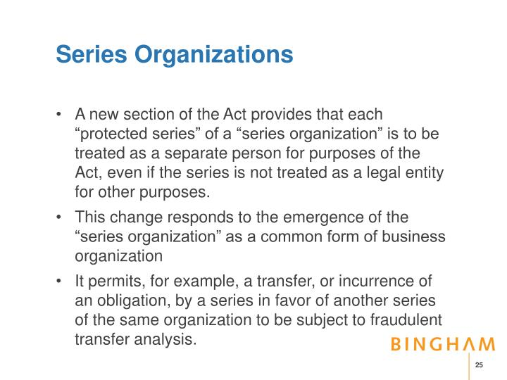 Series Organizations