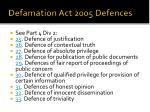 defamation act 2005 defences