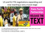 us and eu fta negotiations expanding and now reaching a very crucial stage