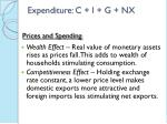 expenditure c i g nx