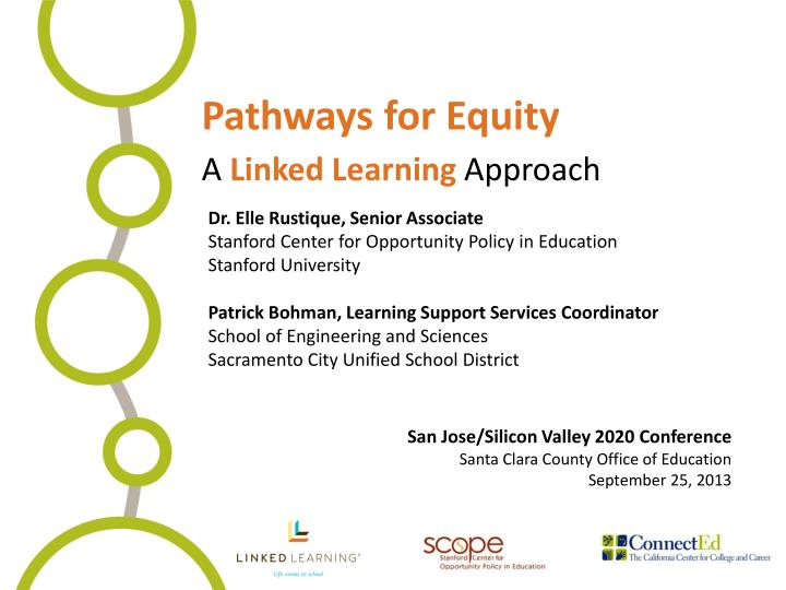 pathways for equity a linked learning approach n.