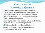 adhd definition steinberg adolescence