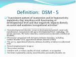 definition dsm 5