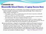 comments on mooresville school district a laptop success story1