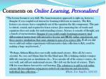 comments on online learning personalized1