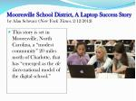 mooresville school district a laptop success story by alan schwarz new york times 2 12 2012