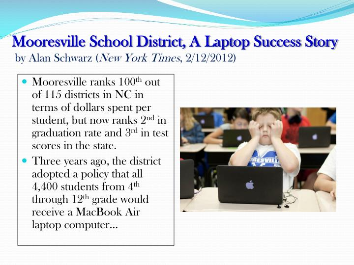 Mooresville School District, A Laptop Success Story
