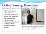 online learning personalized by somini sengupta new york times 12 4 2011