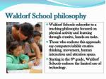 waldorf school philosophy