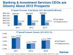 banking investment services ceos are gloomy about 2012 prospects