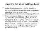 improving the future evidence base
