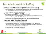 test administration staffing