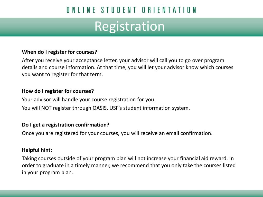 PPT - Welcome to USF! PowerPoint Presentation - ID:1676996